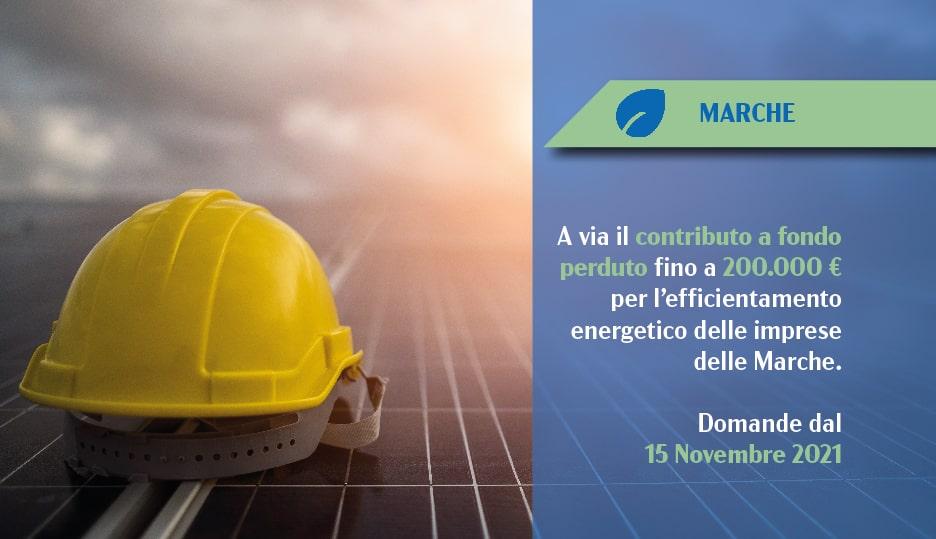 incentivo efficienza energetica Marche