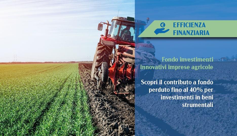 contributo investimenti innovativi imprese agricole